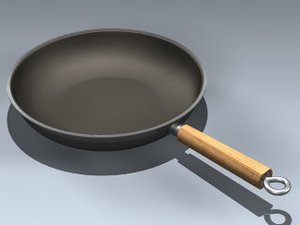 3d model frying pan
