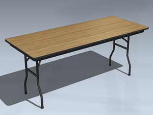 folding table 3d 3ds