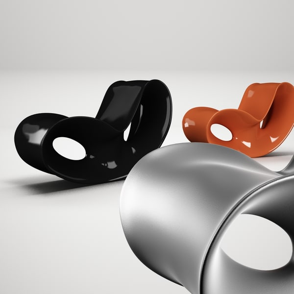 Remarkable Ron Arad Voido Rocking Chair Bralicious Painted Fabric Chair Ideas Braliciousco