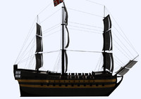 3d model old tall ship