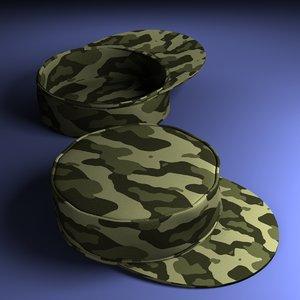 military hat 3d x