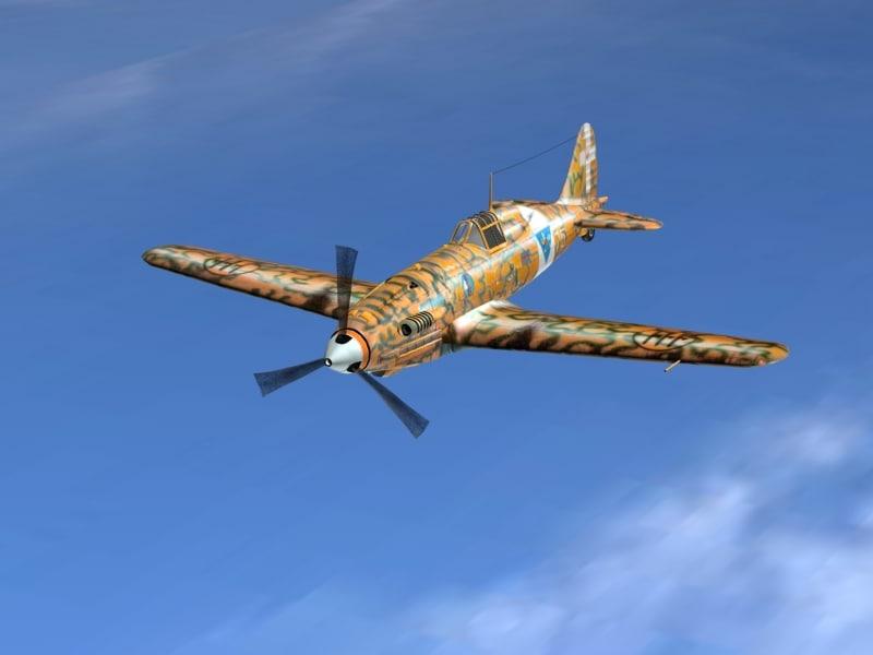 3d italian fighter model