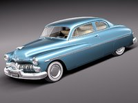 mercury coupe 1950 antique 3d model