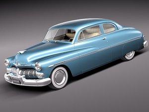 mercury coupe 1950 antique 3d model