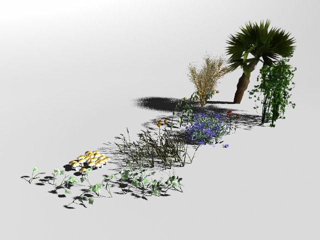 garden nature set fbx