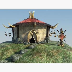 maya orc shaman den fantasy house