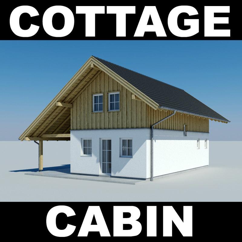 3d house cottage model