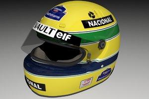 3ds max 1994 helmet ayrton senna