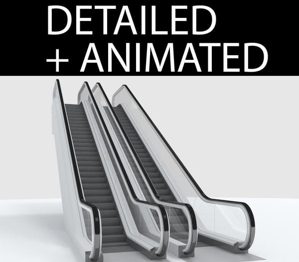 escalator 3d 3ds