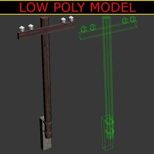 3d pylon tower transmission