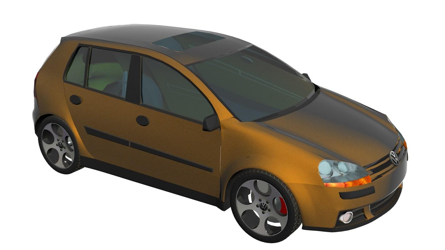 free volkswagen golf 3d model