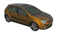 free volkswagen golf 3d model