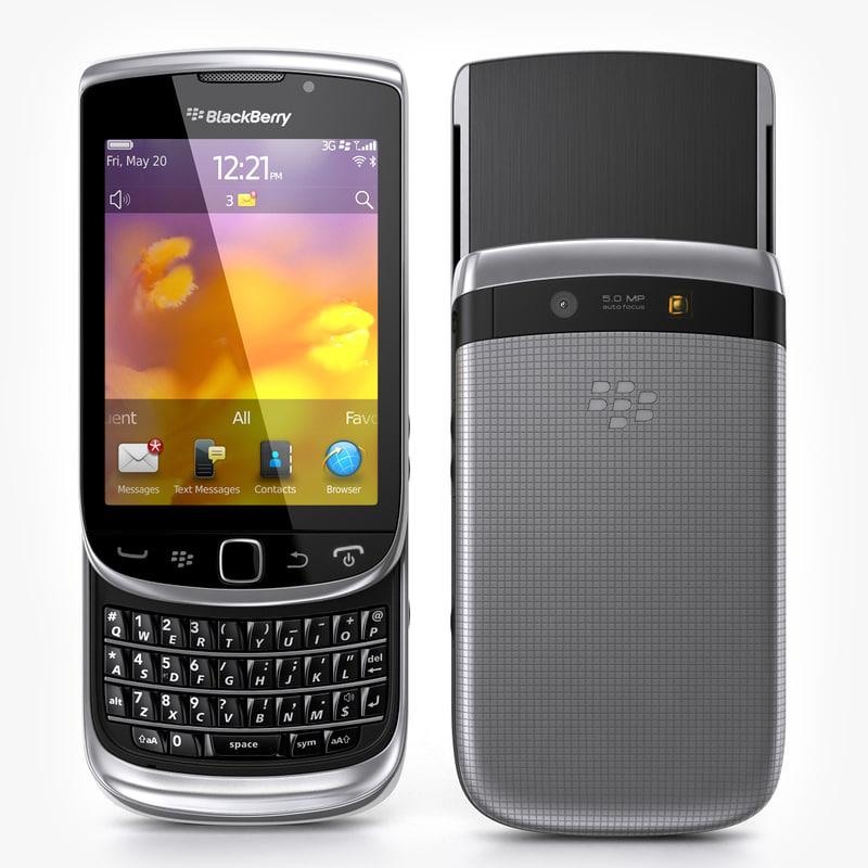 blackberry torch 9810 3d max