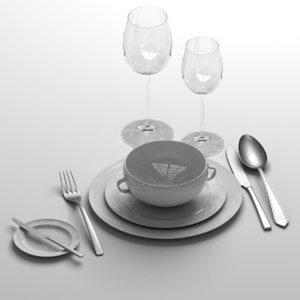 tableware 3d model