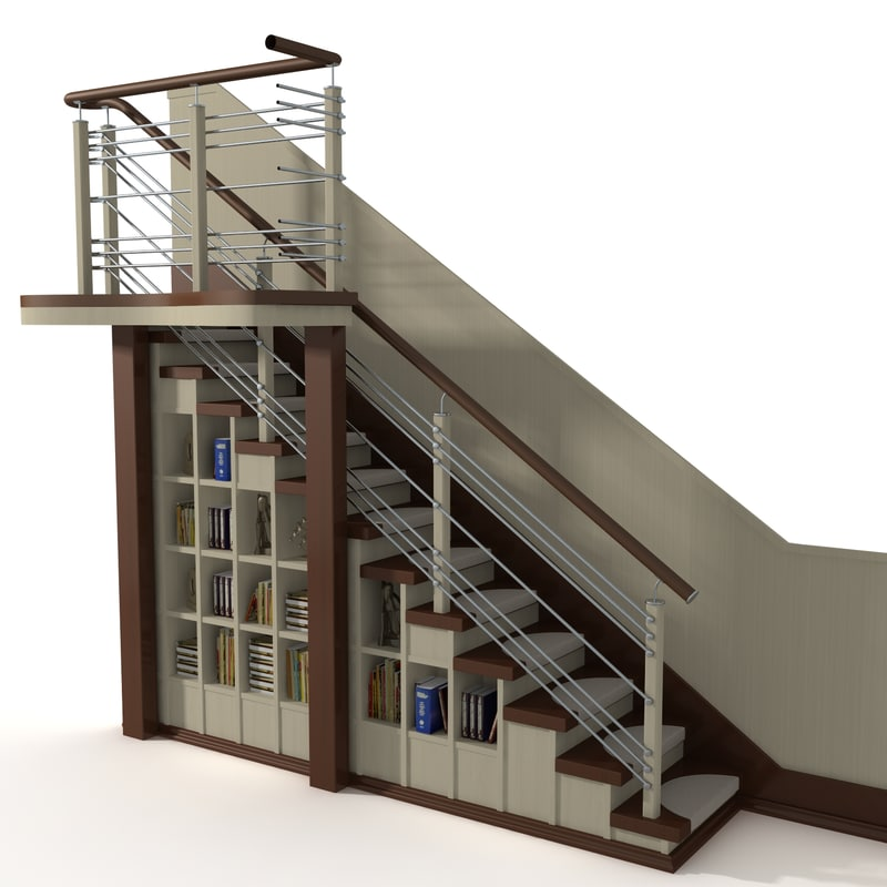 3ds max wooden stair