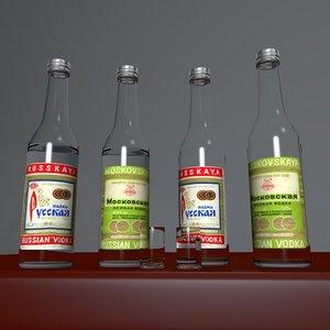 obj bottle russian vodka