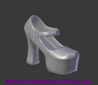 gothic lolita shoe 3d model