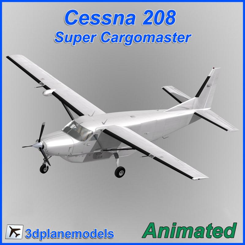 cessna 208 cargo super 3d model