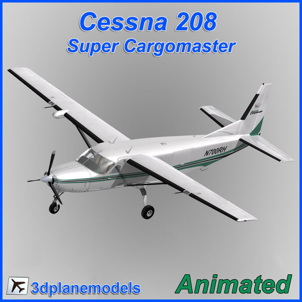 3dsmax cessna 208 airliner cargo