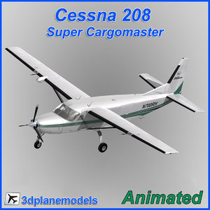 3dsmax cessna 208 airliner cargo