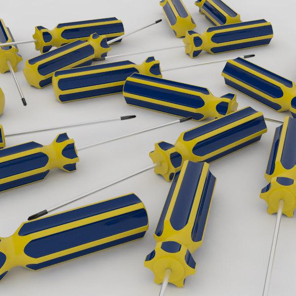 3d model of screwdriver