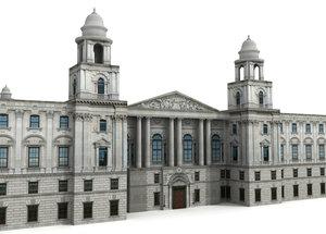 3d model hm treasury building