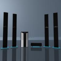 3d model of teufel 5 1 soundsystem