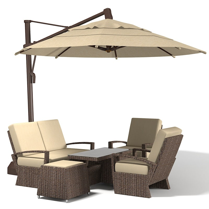 3d coral coast sunbrella. Black Bedroom Furniture Sets. Home Design Ideas