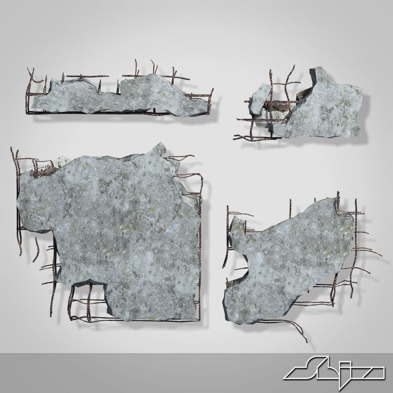 3d pieces debris model
