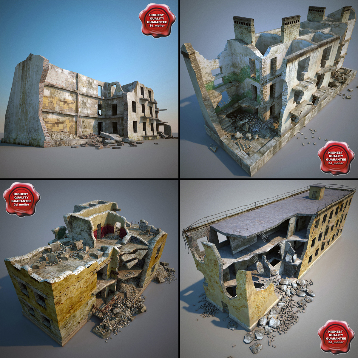3ds max destroyed houses v1