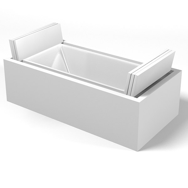 3d duravit sundeck bath model