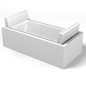 3d duravit sundeck bath model