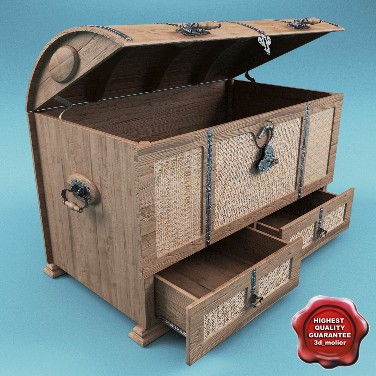 max furniture wood nested trunk