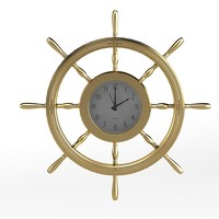Handwheel ship sea theme wall clock children kids furnirure decor accent