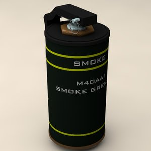 3d model of smoke grenade