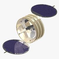 orbiting satellite space cob