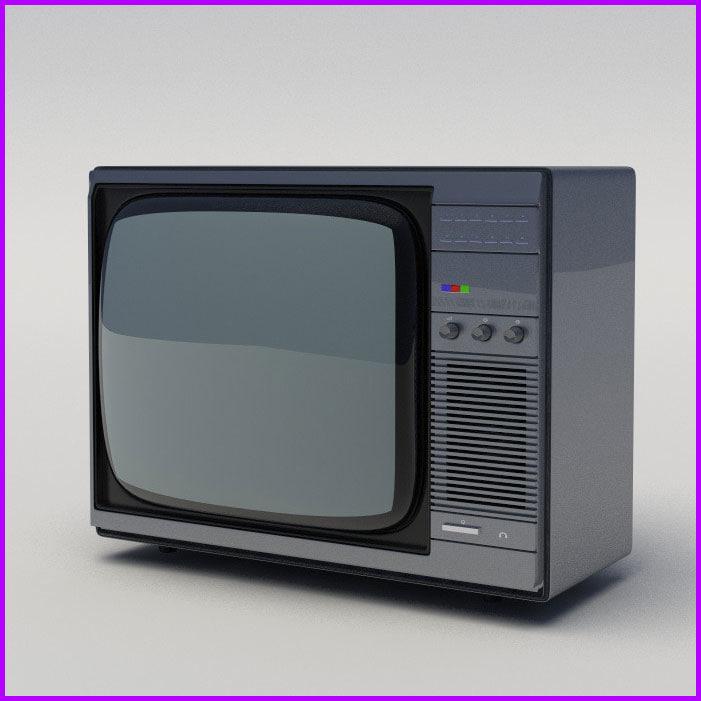 old tv 80s 3d model
