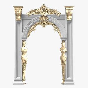 portico arcade baroque 3d model