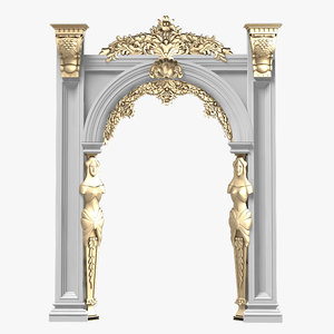portico arcade baroque 3d model