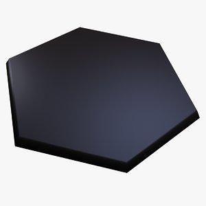 hexagonal tile 3d model
