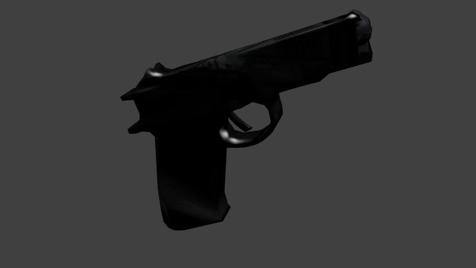 blender cz75 pistol obj free
