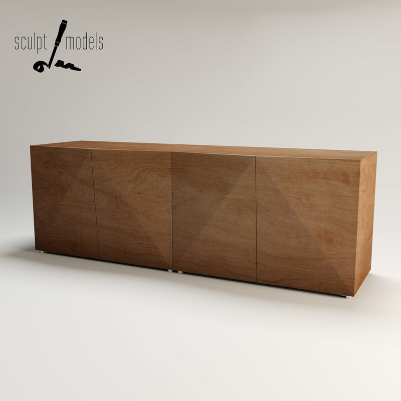 3d model riddled sideboard for Sideboard 3d