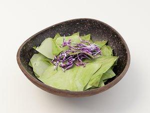 lettuce purple 3d max