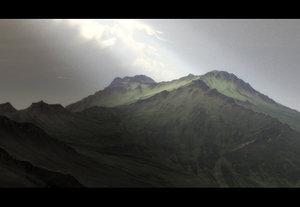 terrains landscape scene obj