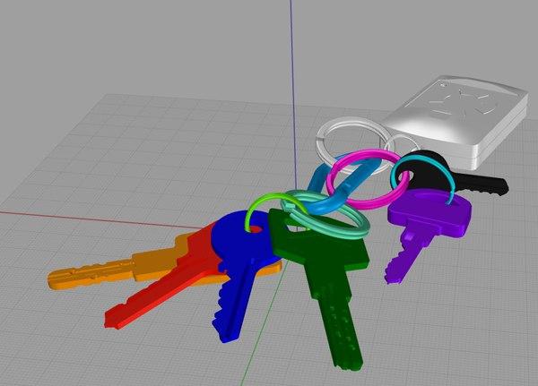 3d model keyring