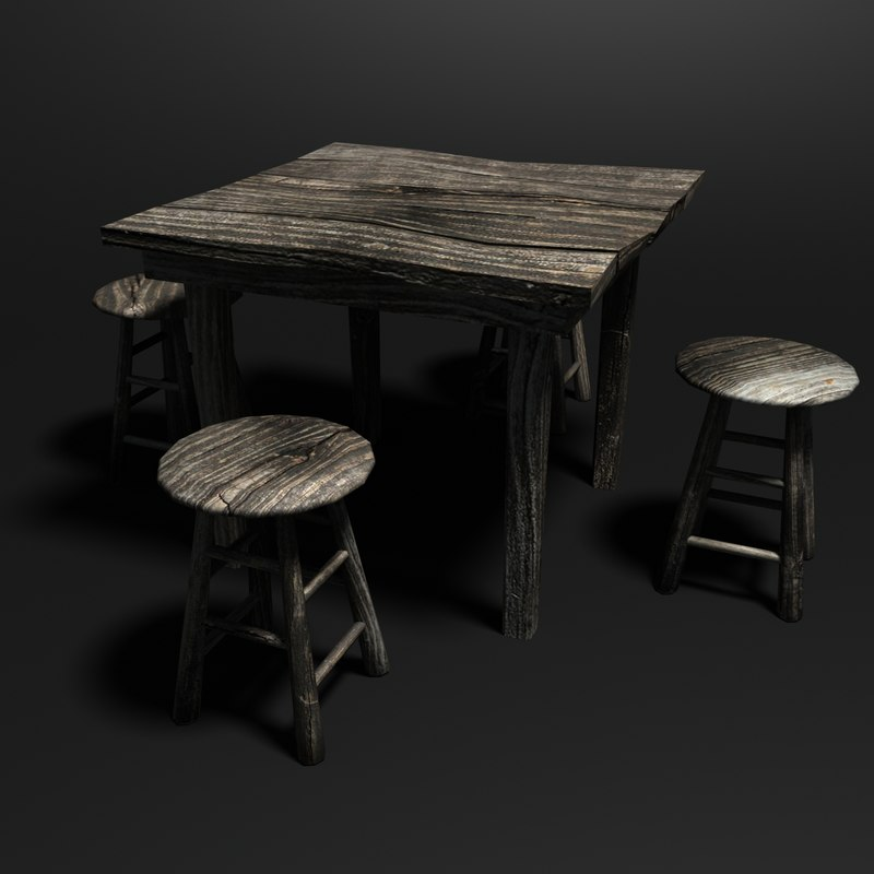 weathered table stools max