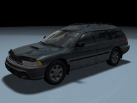 1998 subaru outback legacy 3d model