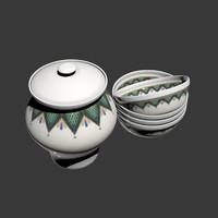 3d ukrainian pottery model