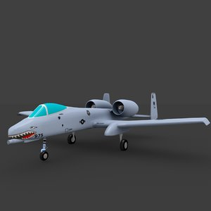 10 thunderbolt aircraft 3d model