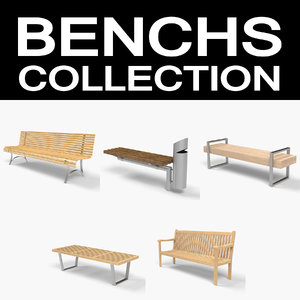 3d model benchs